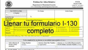 formulario para solicitar entrada en estados unidos
